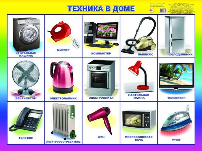 Обучающие плакаты Алфея Плакат Техника в доме