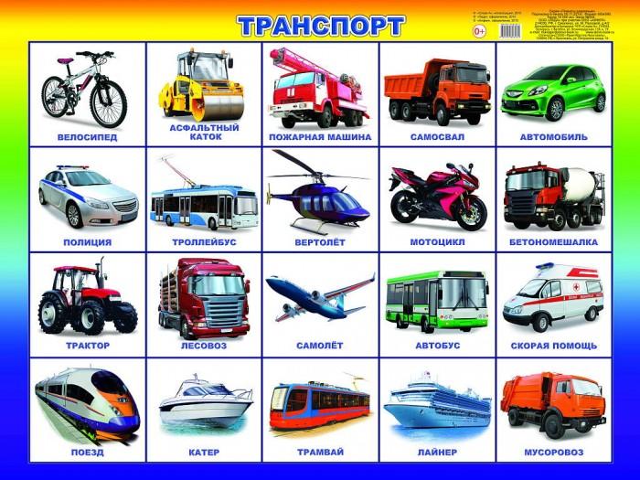 Обучающие плакаты Алфея Плакат Транспорт