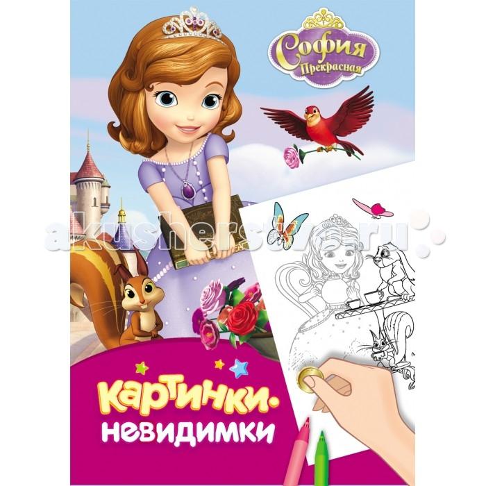Раскраски Росмэн Книжка Картинки-невидимки Disney София Прекрасная