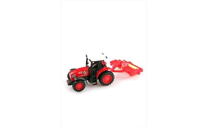 Машины Pioneer Toys Металлическая машина Трактор с прицепом CRD PT402 dickie toys трактор на радуиоуправлении с прицепом