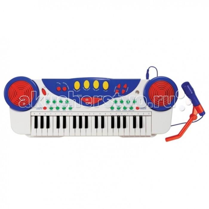 Музыкальная игрушка SS Music Синтезатор с микрофоном My First Musical Keyboard 11041Синтезатор с микрофоном My First Musical Keyboard 11041Музыкальная игрушка SS Music Синтезатор с микрофоном My First Musical Keyboard 11041. Для развития музыкального таланта и проявления творческих способностей, предлагаем вашему вниманию детский синтезатор, который имеет дополнительные мелодии и инструментальные звуки.   Компактный синтезатор не займет дома много места, поэтому его очень удобно использовать в качестве домашнего музыкального инструмента.   Яркий синтезатор оснащен функцией записи и воспроизведения, а так же очень прост в использовании, в следствие чего Вашему ребенку не составит труда приобщиться к миру музыки, при этом обогатив внутренний мир.<br>