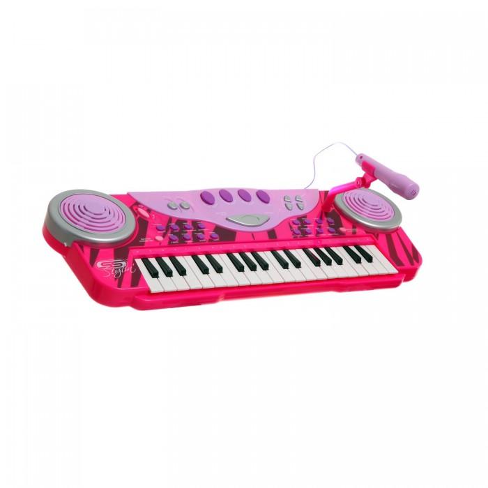Музыкальные игрушки SS Music Синтезатор с микрофоном Musical Keyboard 40004 музыкальные игрушки ss music гитара my first fun guitar 11015