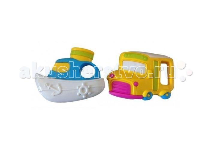 Погремушки Жирафики Набор Автобус и кораблик спот ★ импортированные голубой автобус автобус автобус автомобиль тайо игрушка тянуть обратно автомобиль корея продукты