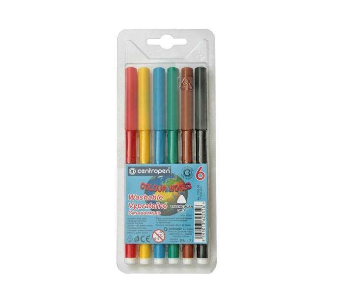 Фломастеры Centropen Набор Colour world 6 цветов фломастеры centropen набор перекрашивающих фломастеров 6 шт