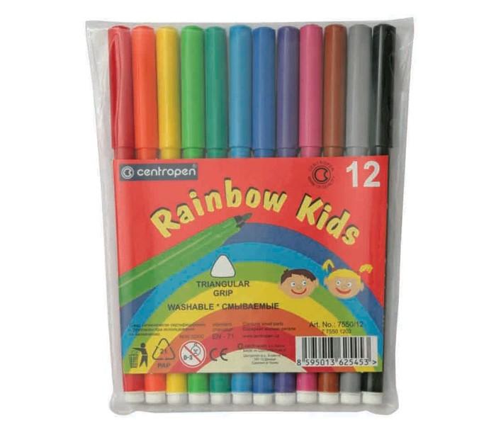 Фломастеры Centropen Набор Rainbow kids 12 цветов набор смываемых фломастеров centropen 18 цветов