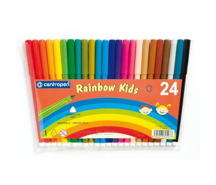 Фломастеры Centropen Набор Rainbow Kids 24 цвета фломастеры centropen набор перекрашивающих фломастеров 6 шт