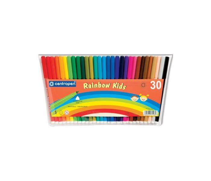 Фломастеры Centropen Набор Rainbow Kids 30 цветов набор смываемых фломастеров centropen 18 цветов