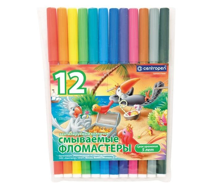 Фломастеры Centropen Набор Птицы 12 цветов фломастеры centropen набор перекрашивающих фломастеров 6 шт