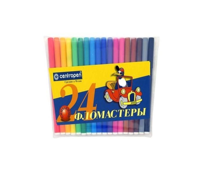 Фломастеры Centropen Набор Пингвины 24 цвета фломастеры centropen набор перекрашивающих фломастеров 6 шт