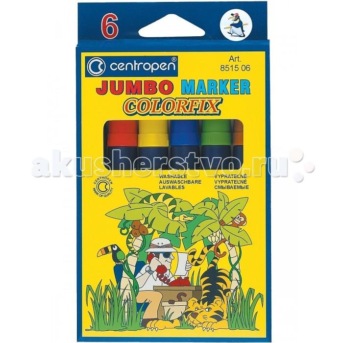 Фломастеры Centropen Набор Colorfix Jumbo 6 цветов centropen 6