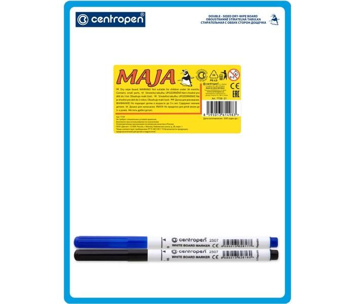 Доски и мольберты Centropen Доска двухсторонняя Майя 18х24 см доска centropen маркерная пластик а3
