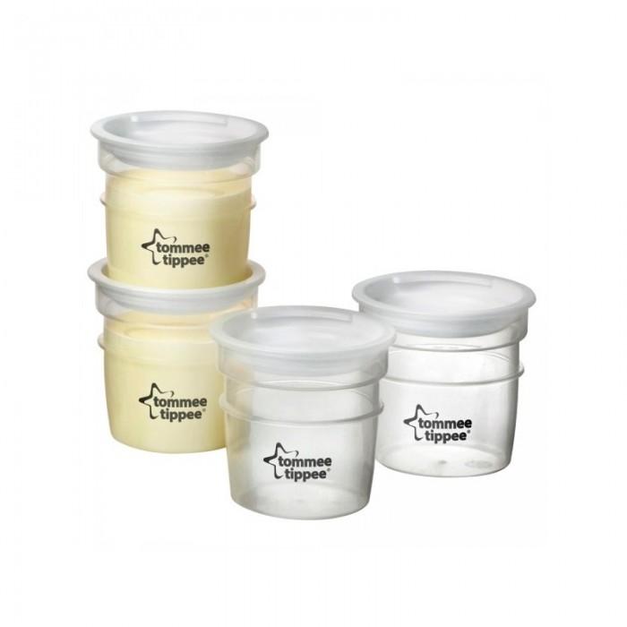 Контейнеры Tommee Tippee Контейнеры для хранения питания и грудного молока 4 шт. контейнеры из полимеров tommee tippee контейнер для снеков и печенья