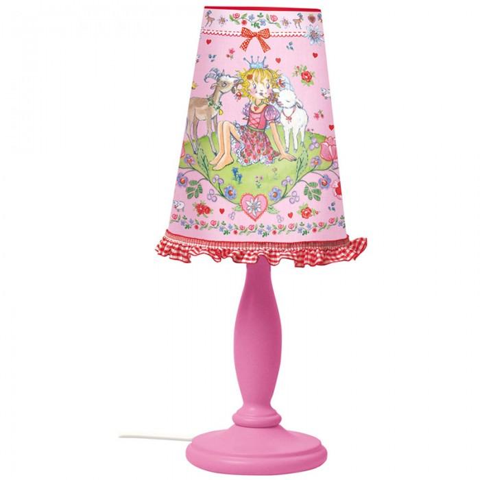 Светильник Spiegelburg Лампа Prinzessin LillifeeЛампа Prinzessin LillifeeSpiegelburg Лампа Prinzessin Lillifee.  Лампа Prinzessin Lillifee с легкостью украсит прикроватную тумбочку любой девочки. Выполнена нежно-розовых тонах с милыми оборками из тесьмы на абажуре.<br>