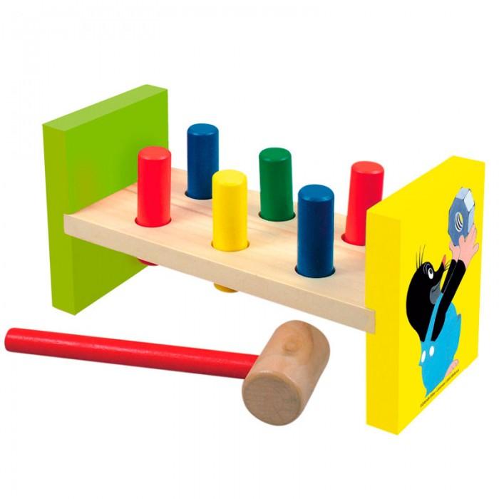 Деревянные игрушки Mertens забивалка Маленький крот bino железная дорога маленький крот