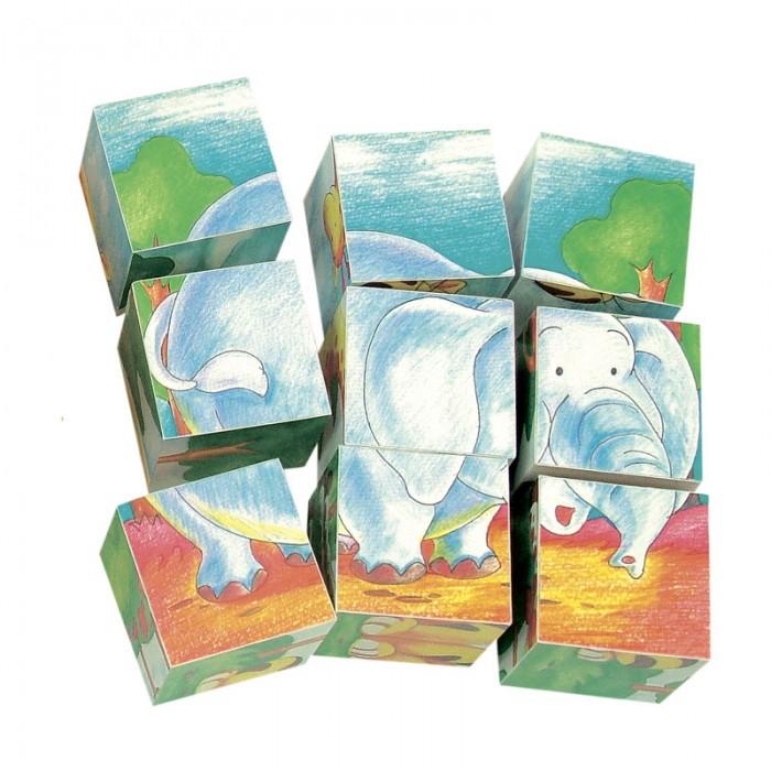 Деревянная игрушка Mertens кубики Дикие животные