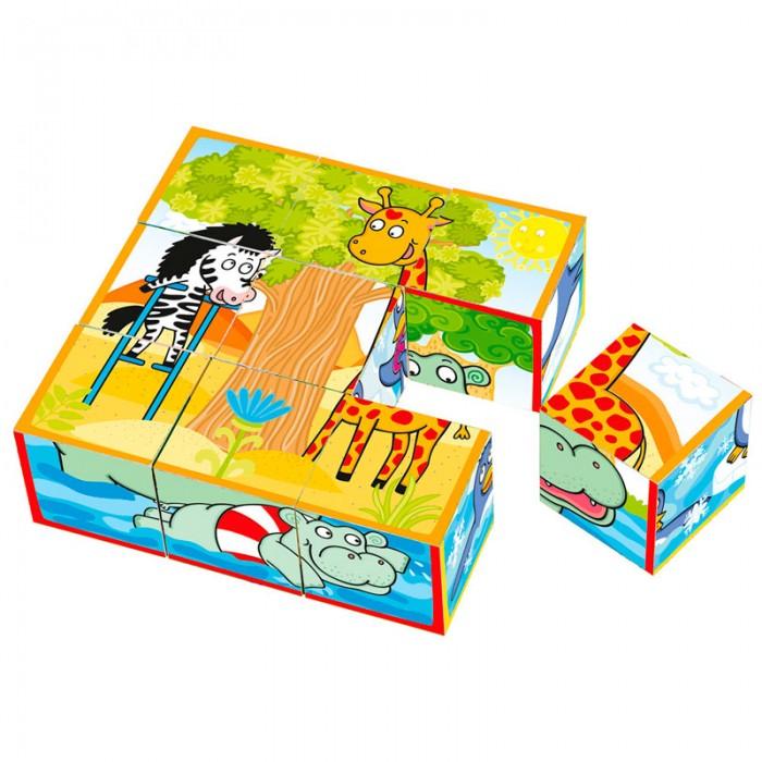Деревянные игрушки Mertens Кубики весёлые животные весёлые животные развивающее домино clever