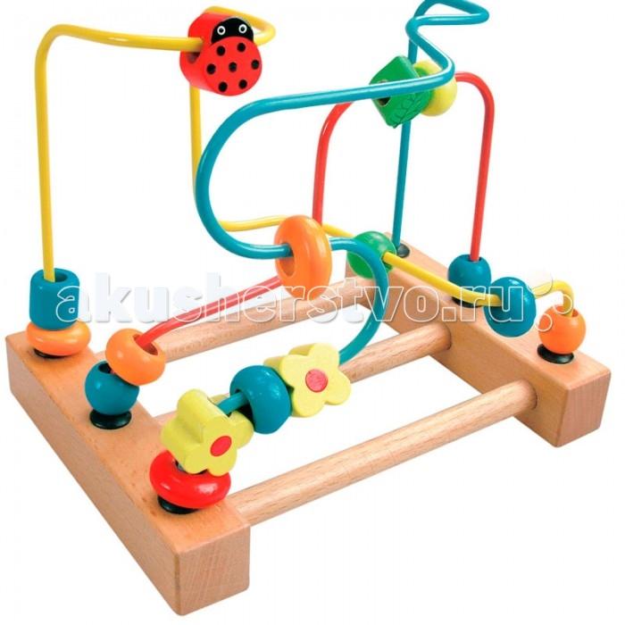 Деревянная игрушка Mertens Лабиринт с бусинками