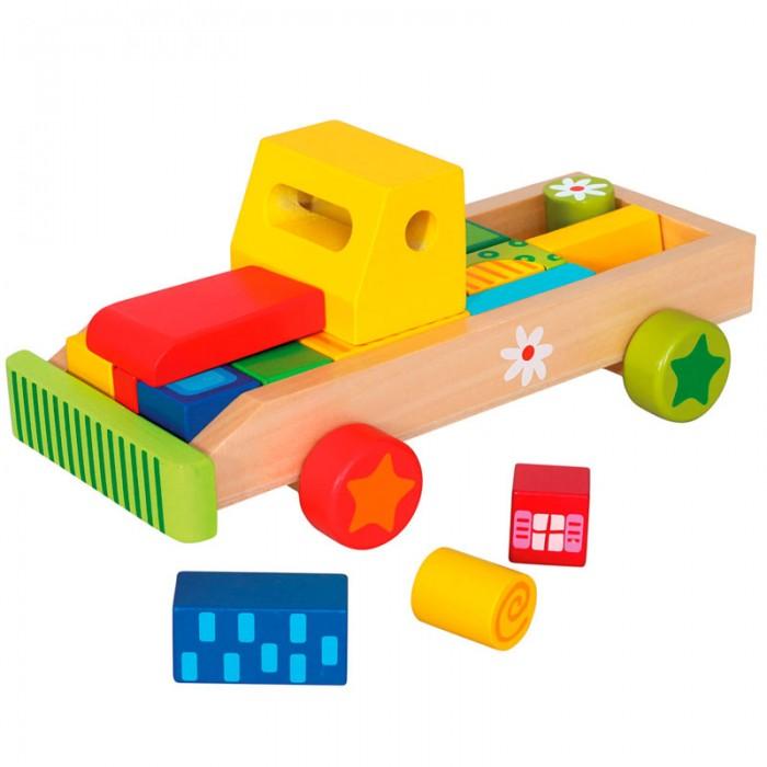 Деревянная игрушка Mertens Машина с кубикамиМашина с кубикамиBino Машина с кубиками.  Увлекательная игра для самых юных автомобильных любителей. В этой игре ребенку надо будет самостоятельно разместить все кубики (груз) в машинку, чтобы всё поместилось. Игра развивает логику и моторику рук ребенка. В наборе 21 деталь.<br>