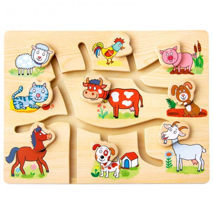 Деревянные игрушки Mertens Игра Подбери головы животным Ферма игра каррас аква ферма x197