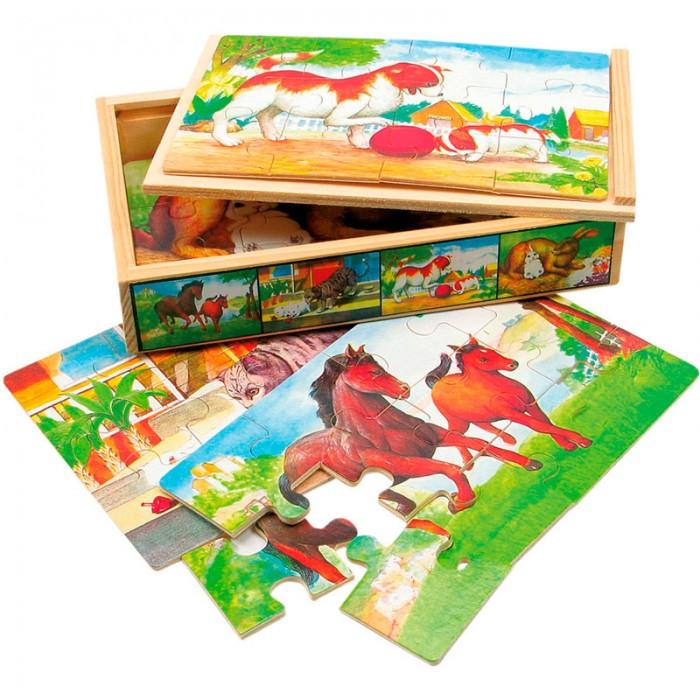 Пазлы Mertens Набор пазлов Животные игры для малышей mertens игра маленький крот 13732