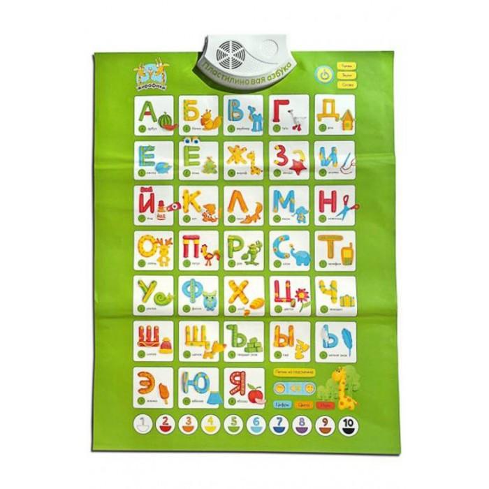Обучающие плакаты Жирафики Плакат Пластилиновая азбука обучающие плакаты умка обучающий плакат первая азбука маша и медведь