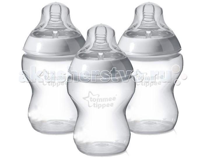 Аксессуары для кормления , Бутылочки Tommee Tippee 3 шт. 260 мл арт: 14411 -  Бутылочки