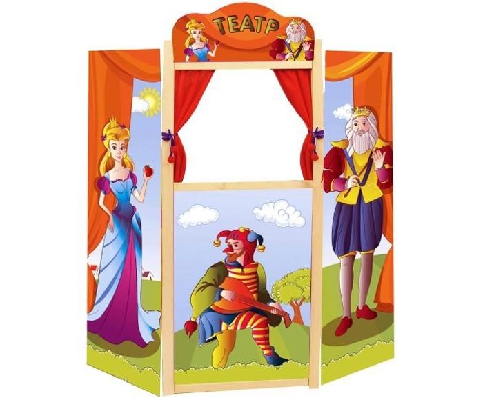 Жирафики Напольная ширма для кукольного театра 99 смНапольная ширма для кукольного театра 99 смЖирафики Напольная ширма для кукольного театра 99 смпозволит малышу не только быть зрителем, но стать кукловодом.  Особенности: Каркас ширмы изготовлен из дерева.  На ширме изображены сказочные персонажи и шут - рассказчик забавных историй. Героями представления могут стать любые игрушки, имеющиеся у ребенка или специальные куклы, надевающиеся на руку.  Совместные игры способствуют взаимопониманию поколений.<br>