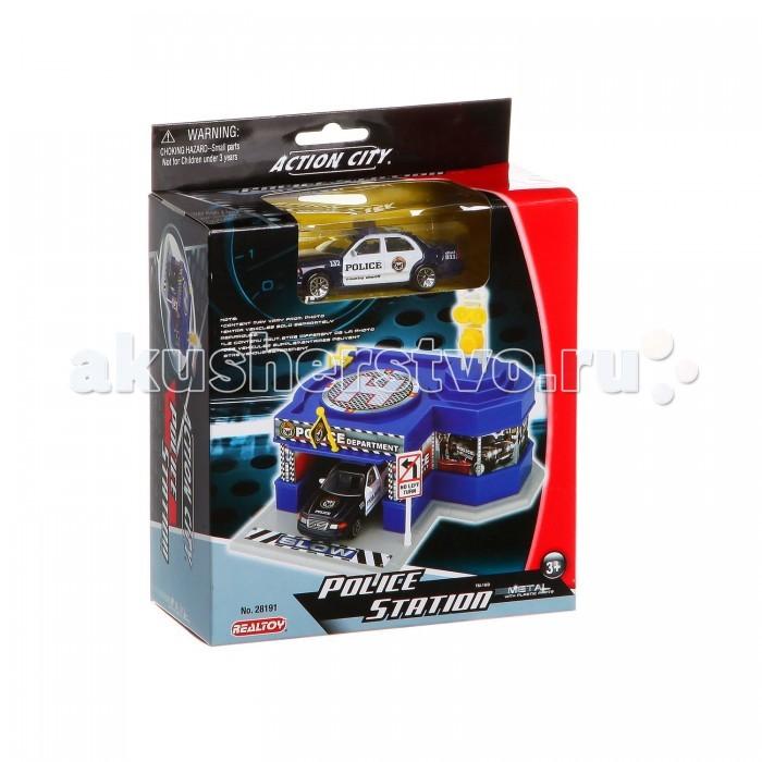 RealToy Игровой набор Полиция машина полицейский участок 28191