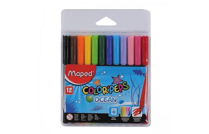 Фломастеры Maped Color Peps Ocean 12 цветов смываемые фломастеры maped color peps ocean 12 цветов смываемые