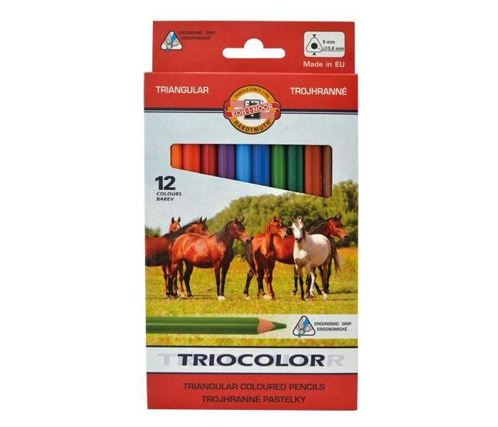 Карандаши, восковые мелки, пастель Koh-i-Noor Набор цветных карандашей Jumbo 12 цветов всё для лепки koh i noor пластилин archimedes 10 цветов