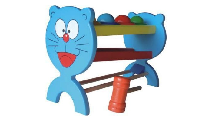 Деревянные игрушки QiQu Wooden Toy Factory Стучалка-шарики Кот abacus sorob baby puzzle wooden toy small abacus handcrafted educational toy children s wooden early learning kids math toy mz64