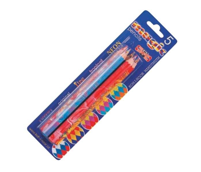 Карандаши, восковые мелки, пастель Koh-i-Noor Набор карандашей Magic с многоцветным грифелем 5 шт. карандаши koh i noor набор карандашей 24 цвета