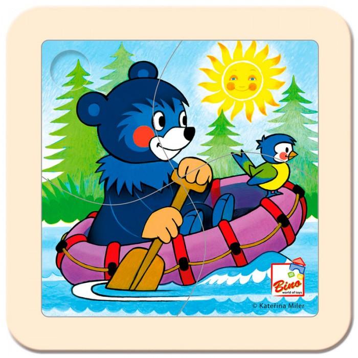 Пазлы Mertens Пазл Медвежонок на лодке игры для малышей mertens игра маленький крот 13732
