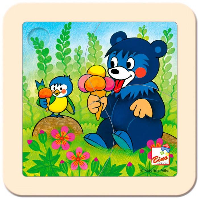 Пазлы Mertens Пазл Медвежонок с мороженым игры для малышей mertens игра маленький крот 13732