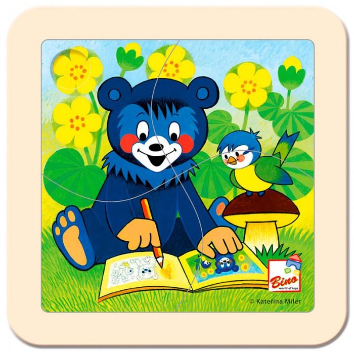 Пазлы Mertens Пазл Медвежонок с раскраской игры для малышей mertens игра маленький крот 13732