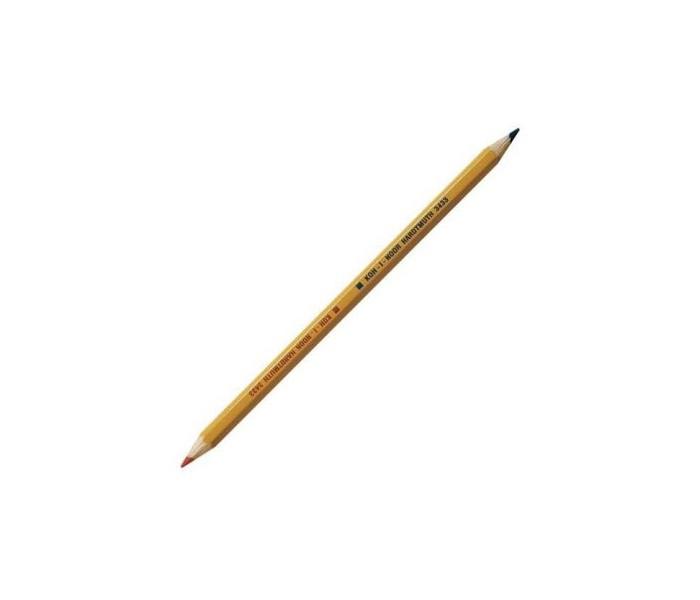 Карандаши, восковые мелки, пастель Koh-i-Noor Карандаш двухцветный красно-синий карандаши восковые мелки пастель koh i noor карандаш двухцветный красно синий