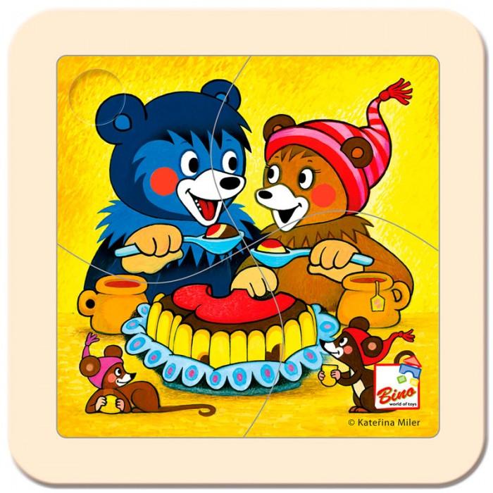 Пазлы Mertens Пазл Медвежонок с тортом игры для малышей mertens игра маленький крот 13732