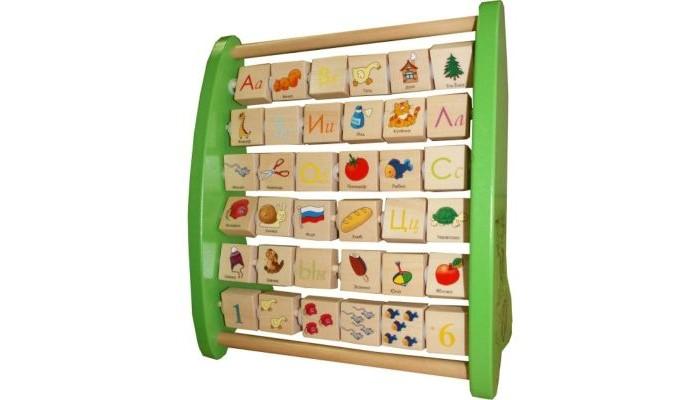 Деревянные игрушки QiQu Wooden Toy Factory Азбука с подвижными картинками деревянные игрушки qiqu wooden toy factory поезд
