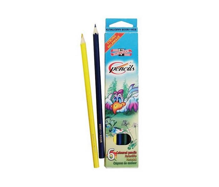 Карандаши, восковые мелки, пастель Koh-i-Noor Набор цветных карандашей Птицы 6 цветов карандаши koh i noor набор карандашей 70 лет великой победы