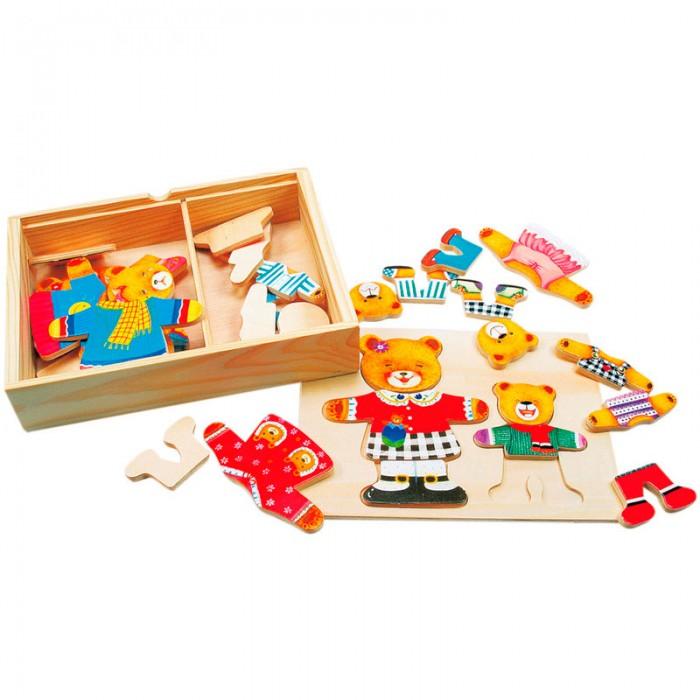 Пазлы Mertens Пазл-вкладыш Гардероб медведицы и медвежонка игры для малышей mertens игра маленький крот 13732