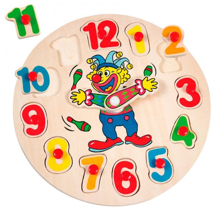 Пазлы Mertens Пазл-вкладыш Часы с клоуном пазлы бомик вкладыш геометрические формы