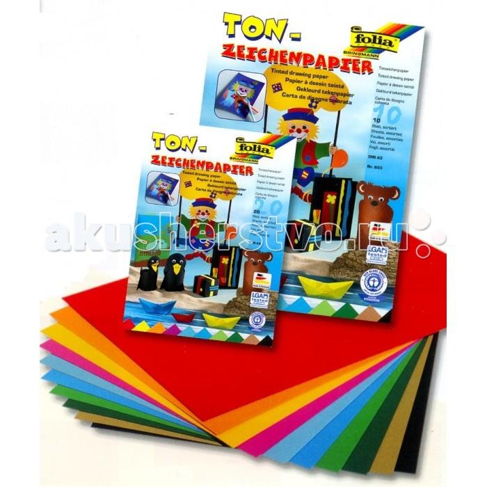 Канцелярия Folia Набор цветной бумаги 20 листов folia набор для детского творчества креатив
