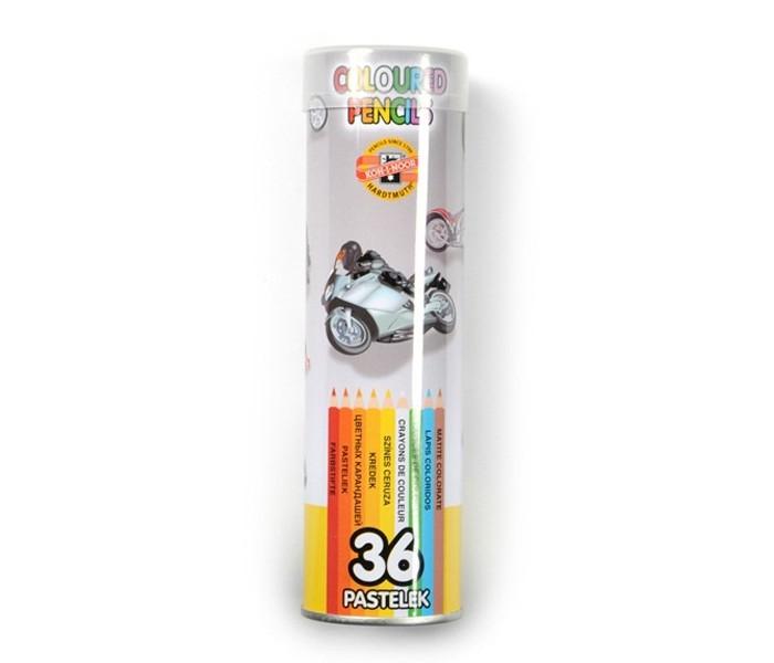 Карандаши, восковые мелки, пастель Koh-i-Noor Набор цветных карандашей в металлическом пенале 36 цветов карандаши kin 12 цветов в металлическом пенале 3576 12