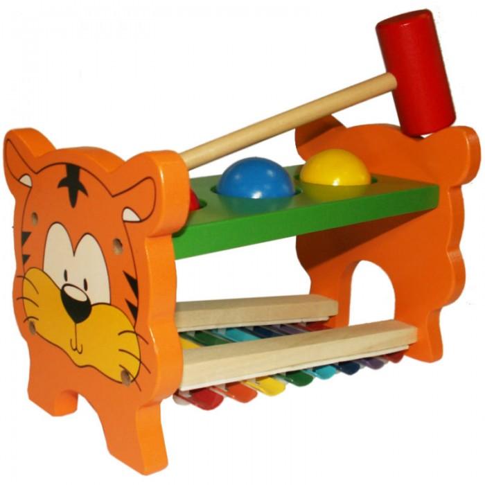 Музыкальные игрушки QiQu Wooden Toy Factory Стучалка музыкальная Тигренок деревянные игрушки qiqu wooden toy factory поезд