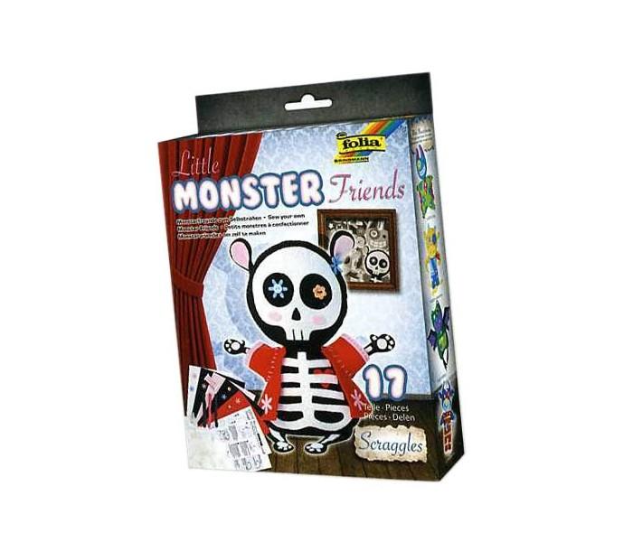 Наборы для творчества Folia Набор для создания очаровательной игрушки Скелетик мышки folia набор для детского творчества креатив