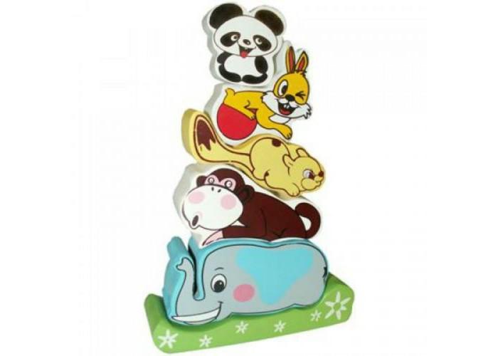 Деревянные игрушки QiQu Wooden Toy Factory Пирамидка Слоник пазлы qiqu wooden toy factory рамка вкладыш машинки