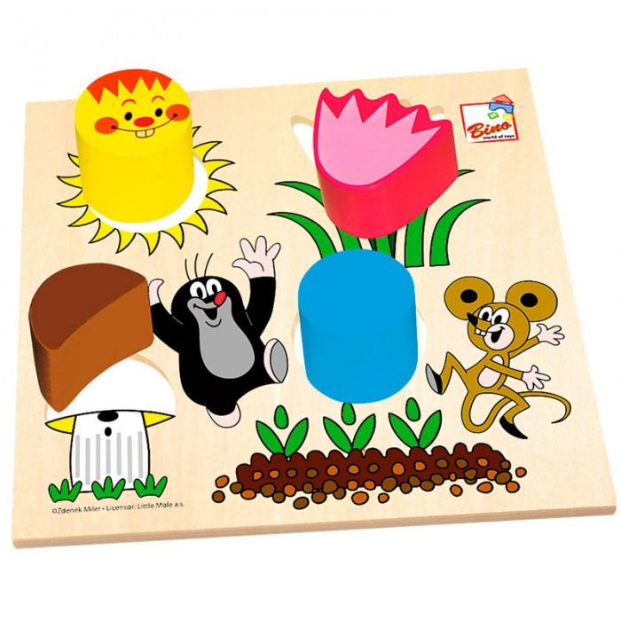 Mertens Пазл-сортер Маленький кротПазл-сортер Маленький кротBino Пазл-сортер Маленький крот.  Игрушка от компании Bino изготовлена из высококачественного дерева и покрыта пищевыми красителями. Поверхность игрушки- гладкая, ровная, приятная на ощупь.<br>