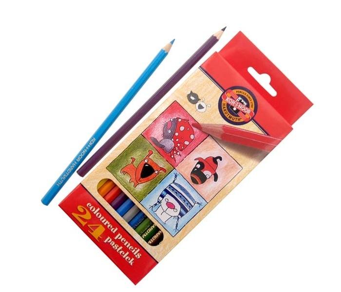 Карандаши, восковые мелки, пастель Koh-i-Noor Набор цветных карандашей Кошки+собаки 24 цвета карандаши koh i noor набор карандашей 24 цвета
