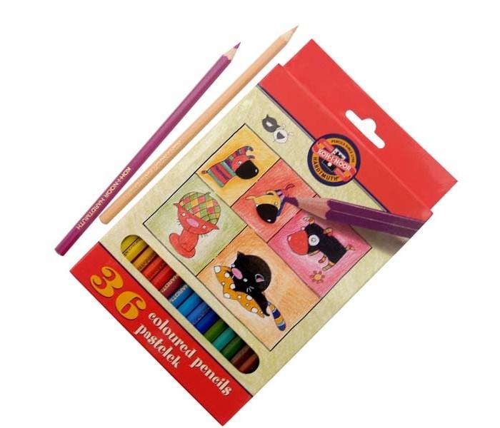 карандаши восковые мелки пастель каляка маляка набор цветных карандашей шестигранные двусторонние 6 шт 12 цветов Карандаши, восковые мелки, пастель Koh-i-Noor Набор цветных карандашей Кошки+собаки 36 цветов