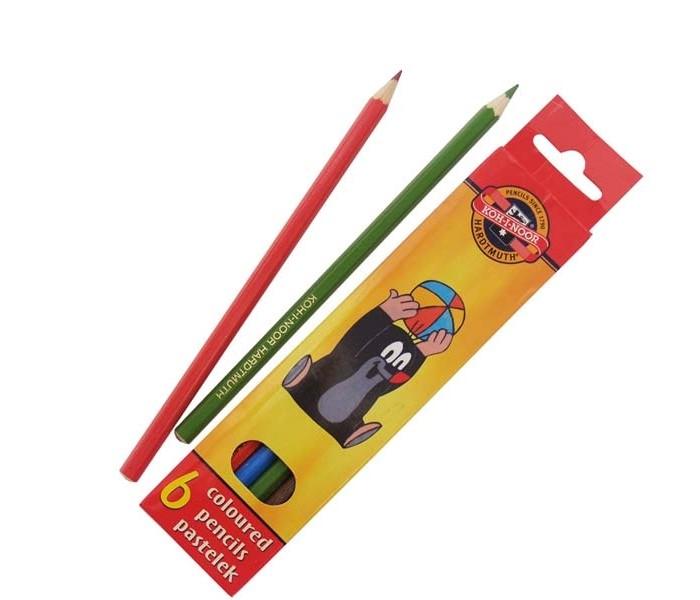 Карандаши, восковые мелки, пастель Koh-i-Noor Набор цветных карандашей Крот 6 цветов культиватор крот в красноярске